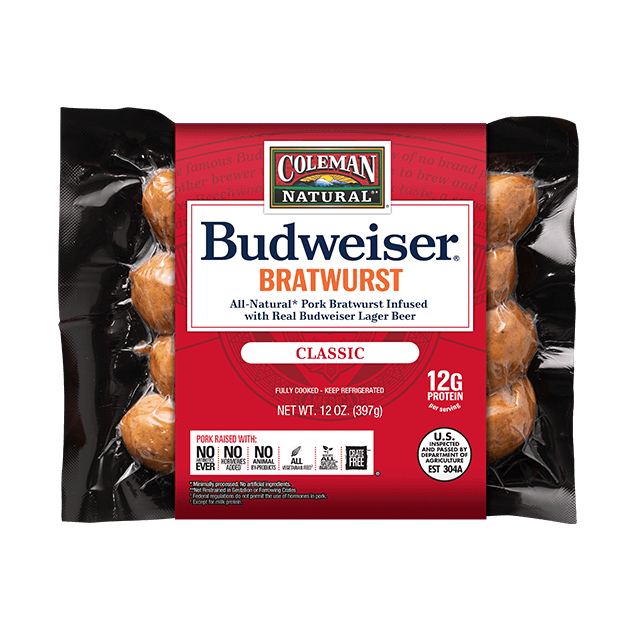 Budweiser BBQ Classic Beer Bratwurst 12 oz. package
