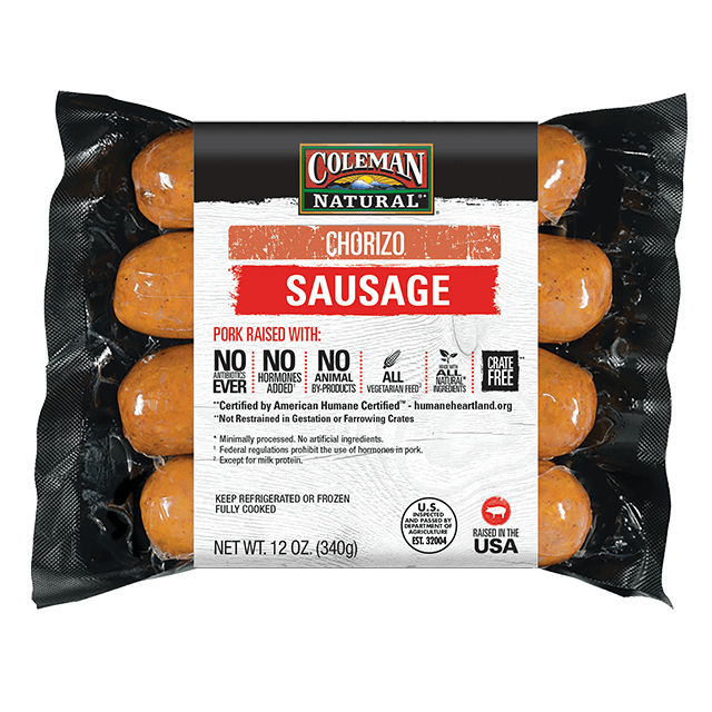 Uncured Chorizo Sausage 12 oz. package