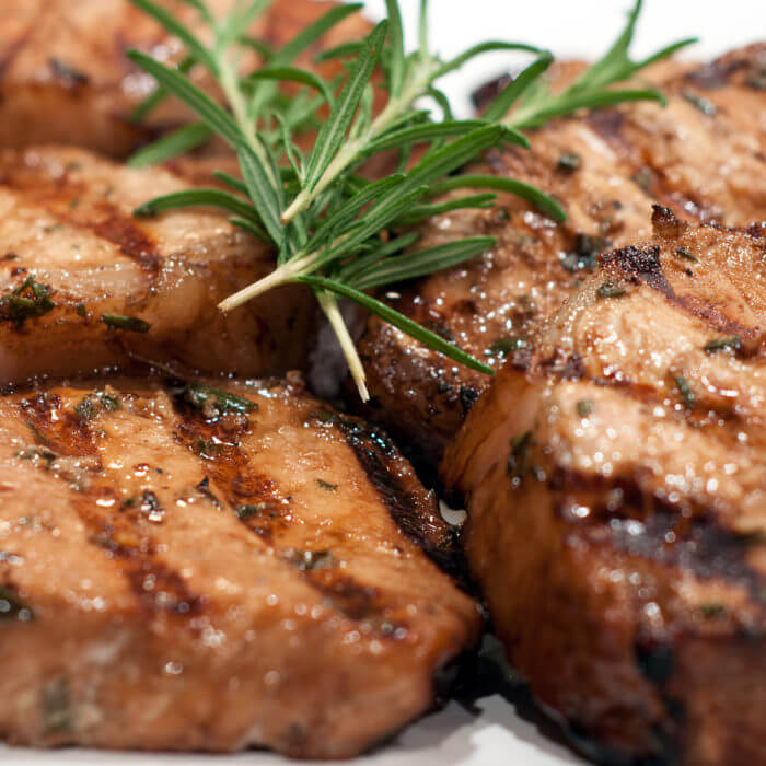 Balsamic and Rosemary Grilled Pork Chops