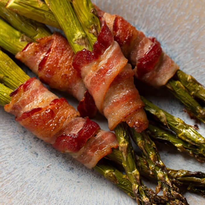 Oven Roasted Bacon Wrapped Asparagus